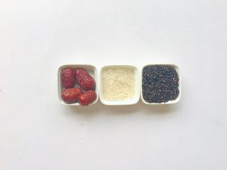黑米红枣粥 or黑米红枣糊,准备食材
