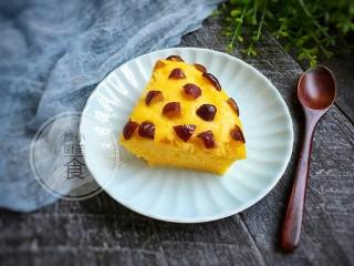 南瓜红枣发糕,成品。