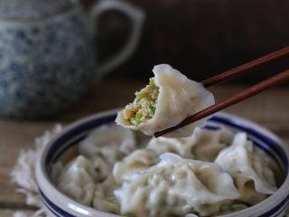 青椒猪肉馅水饺,味道超赞的哦!