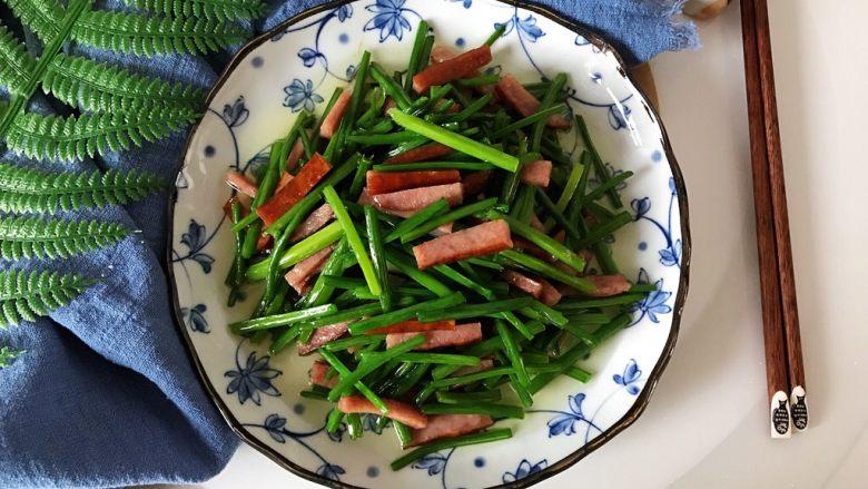 快手正餐  韭苔红肠