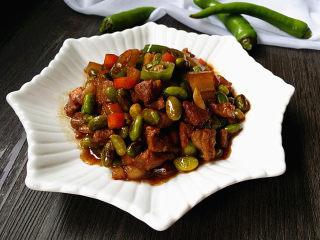 杭椒毛豆米小炒肉,美味又下饭哈