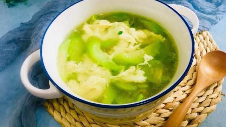 丝瓜蛋汤,成品图