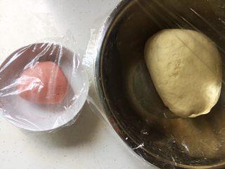 花花的黑洋酥馒头,盖上保鲜膜,进行发酵