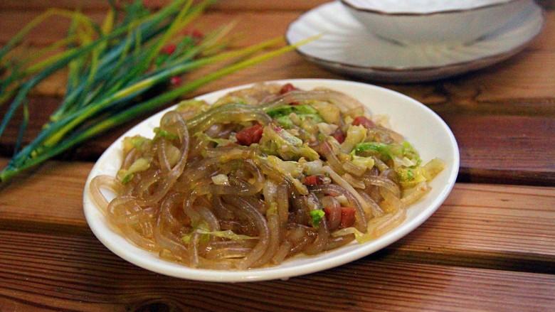 大头菜炒粉条火腿肠