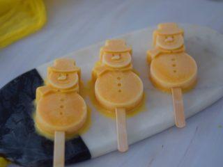 芒果牛奶冰棍,成品图