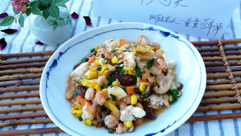 快手正餐 虾仁香菇烧豆腐