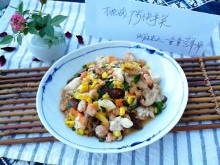 快手正餐 虾仁香菇烧豆腐,起锅。味道鲜美,多种营养一道搞定