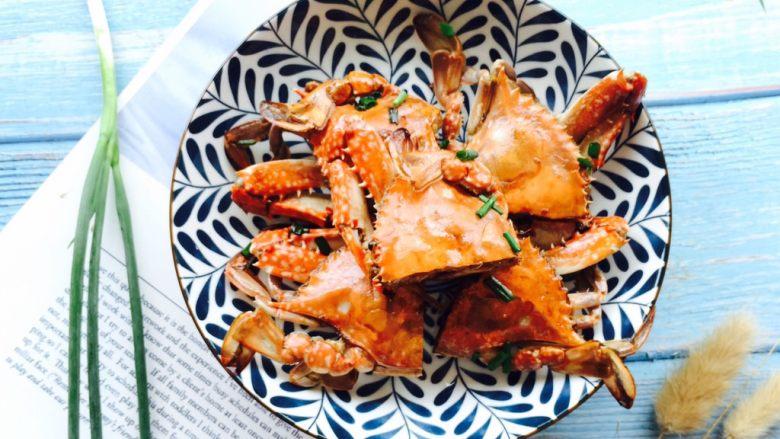 下酒菜+姜葱炒梭子蟹