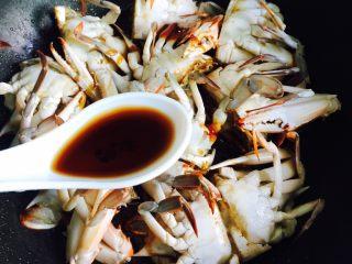 下酒菜+姜葱炒梭子蟹,一勺香醋