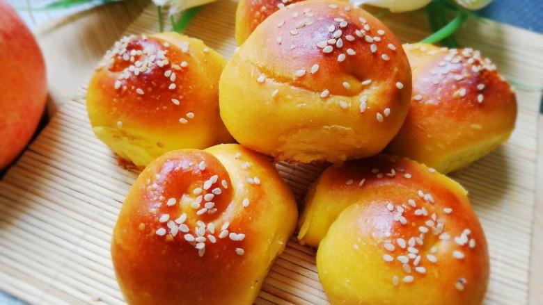 南瓜蜂蜜脆底小面包