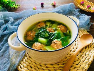 青菜肉元汤