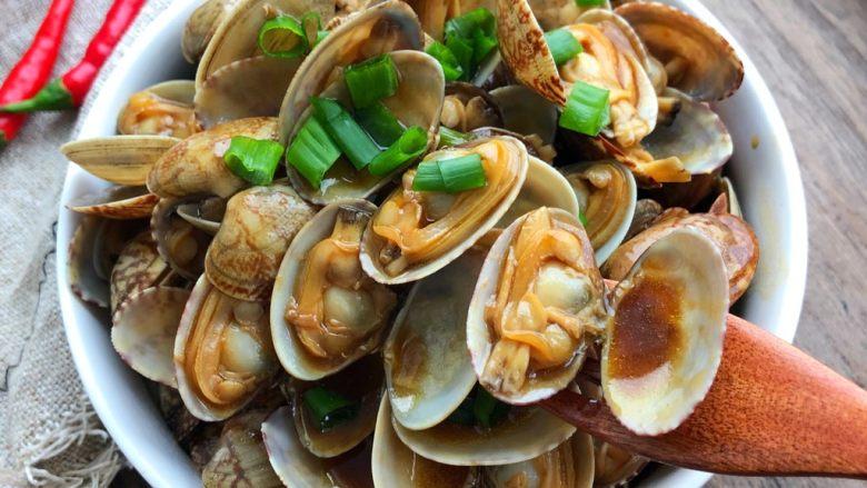 蚝油花蛤,成品