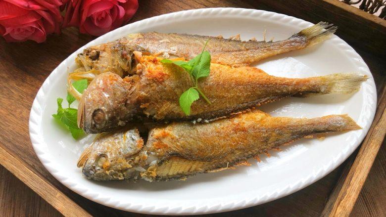 煎小黄鱼,成品图三