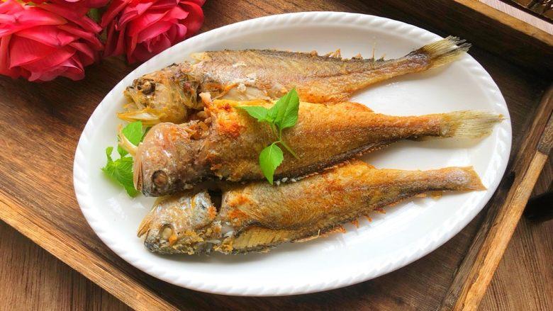 煎小黄鱼,成品图二