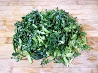 素菜包,青菜洗干净切碎。