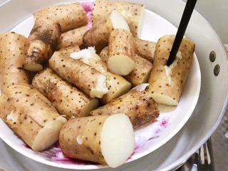 山药红豆糕,用筷子能轻松插透即可