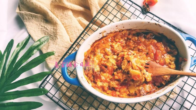 宝宝辅食11M➕:藜麦番茄虾仁焗饭