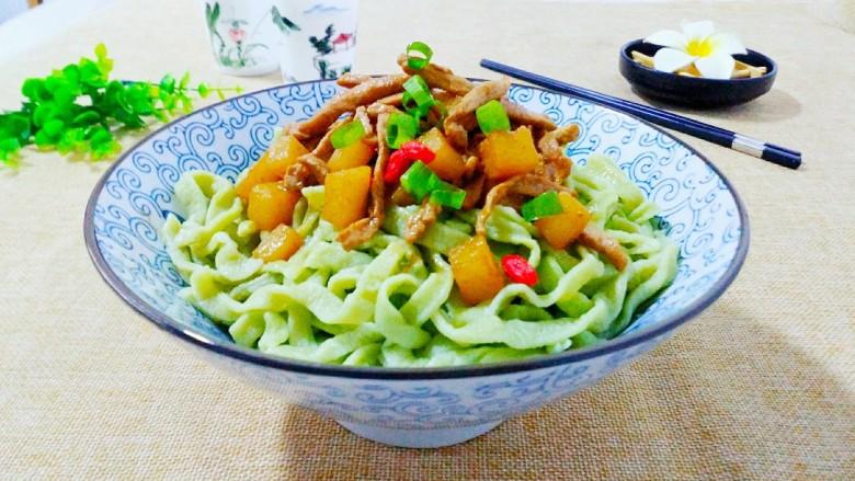 营养蔬菜打卤面,做好的营养蔬菜打卤面