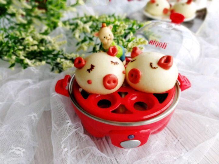 小猪🐷奶香馒头,成品图