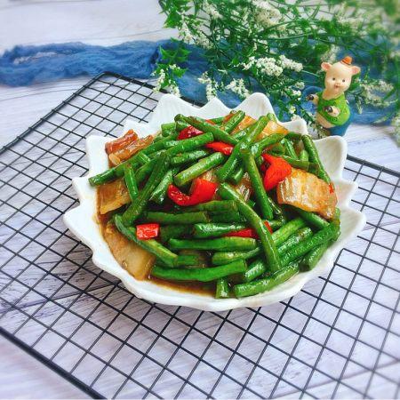 家常菜+五花肉炒豆角