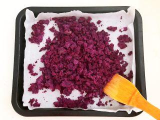 自制紫薯粉,给紫薯泥翻面
