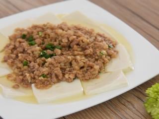 荤素搭配的肉末盖豆腐,超级下饭