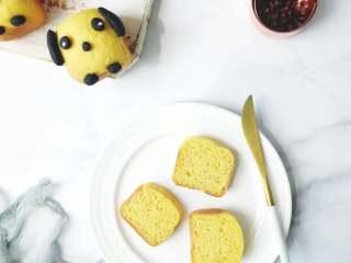 萌萌哒小狗面包,成品图