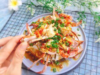 家常菜+葱油梭子蟹,好吃😋哦