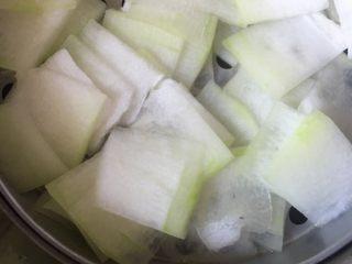 减肥食谱-蒜蓉冬瓜,观察不要蒸过火