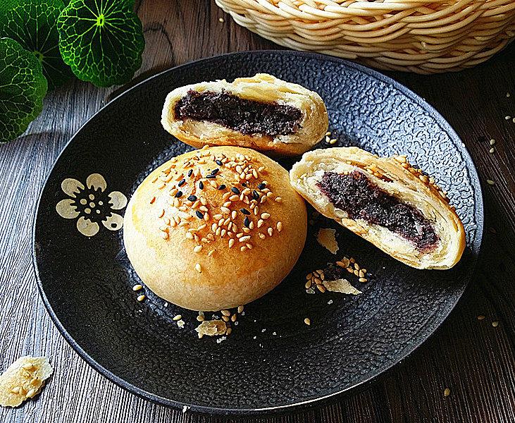 黑芝麻桑葚酥烧饼