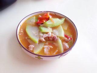 葫芦瓜番茄肉片汤,成品3