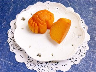 一起来啃螃蟹吧——金沙奶黄月饼,美美哒