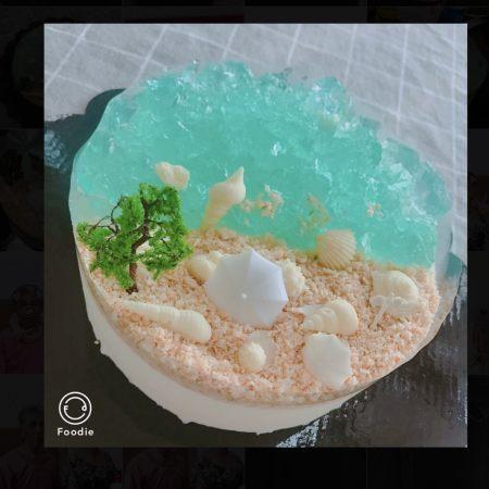 夏日海洋酸奶慕斯蛋糕