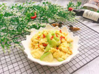 家常菜+丝瓜炒蛋,成品图
