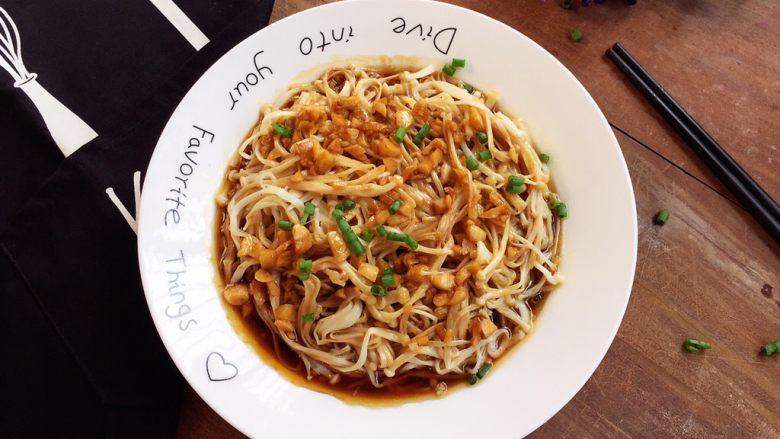 蚝油金针菇,成品