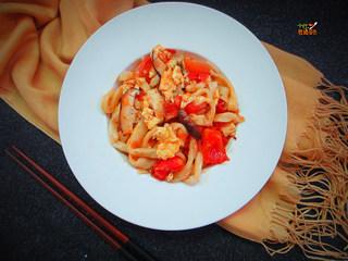 番茄鸡蛋手擀面,肉菜主食一锅端,方便美味