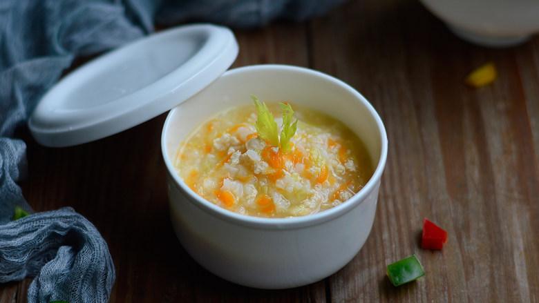 胡萝卜芹菜鸡肉粥(辅食)