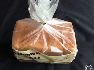 荔枝吐司面包,切片盒装入吐司袋中保存。