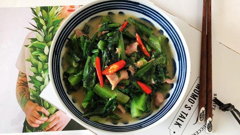 椒丝腐乳油麦菜炒肉丝