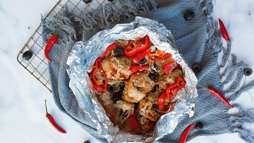 黑橄榄酸菜烤鸡腿