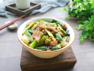蒜苗豆豉五花肉