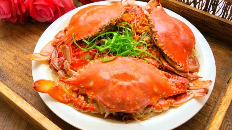 蒜蓉粉丝蒸蟹,成品图二