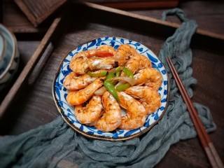椒盐烤虾,成品