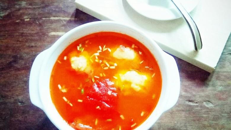番茄南瓜鱼丸汤
