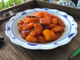 腐乳土豆,做法简单,营养丰富,味浓汁鲜的腐乳土豆。