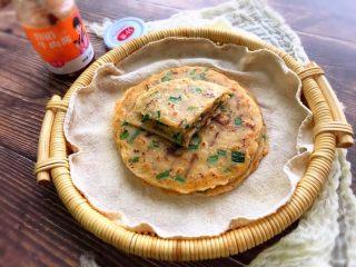 快手早餐饼~韭菜牛肉饼,出锅
