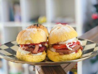 南瓜小汉堡,美味早餐