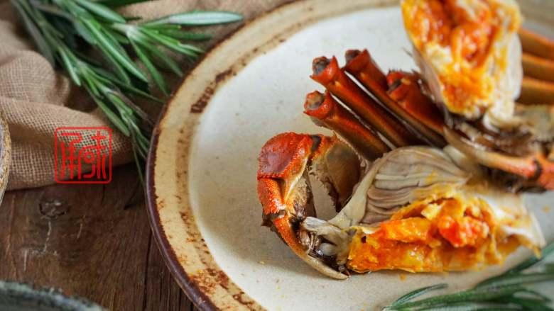 承味迷迭清酒香蒸蟹,大闸蟹味觉和颜值的新高度