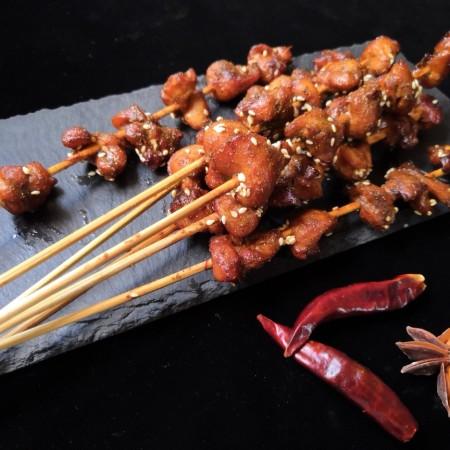 孜然烤兔肉串串