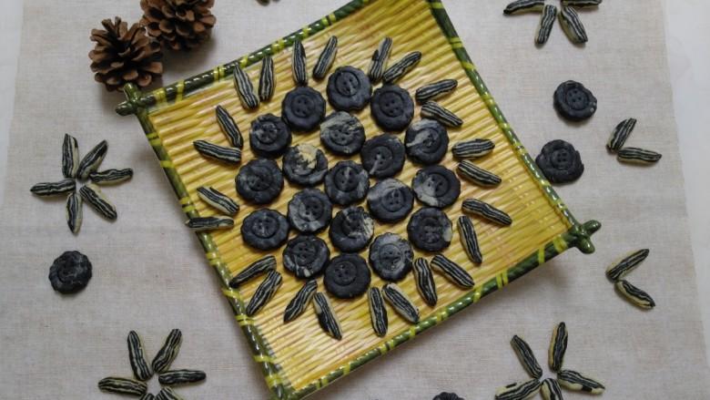 葵花籽酥+纽扣饼干